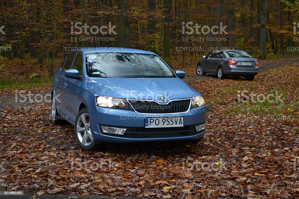 Skoda Rapid at the press launch stock photo
