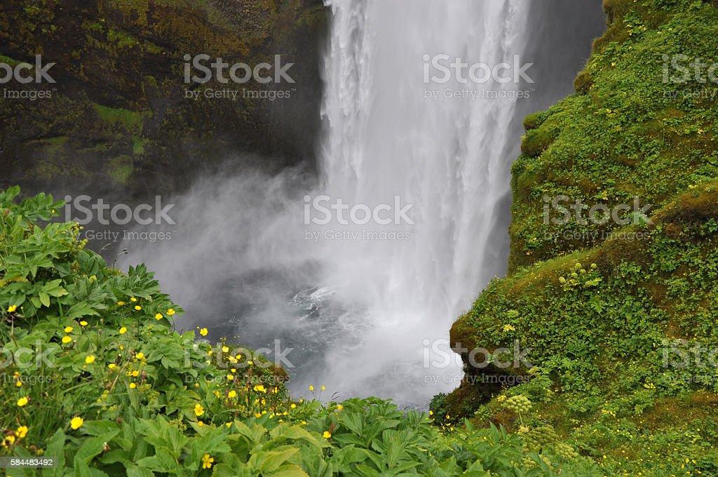 Skogafoss, Iceland stock photo