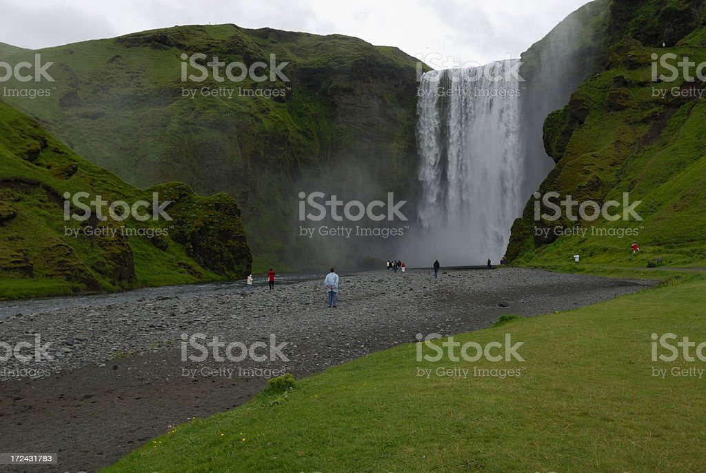 Skogafoss in southern Iceland stock photo