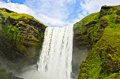 Skogafoss waterfall 200 feets high is  the highest waterfall in Iceland