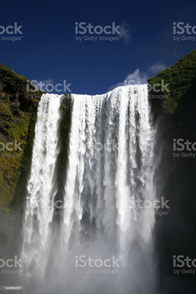 Skogafoss waterfall Iceland stock photo