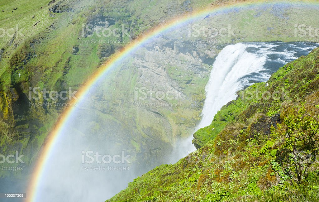 skogafoss waterfall, iceland stock photo