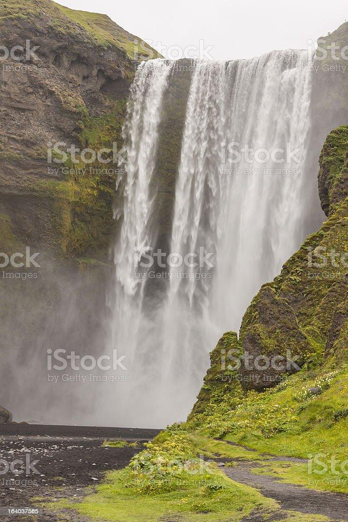 Skogafoss waterfall - Iceland royalty-free stock photo