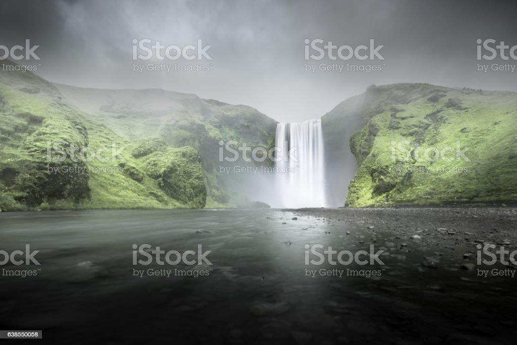 Skogafoss waterfall, Iceland stock photo