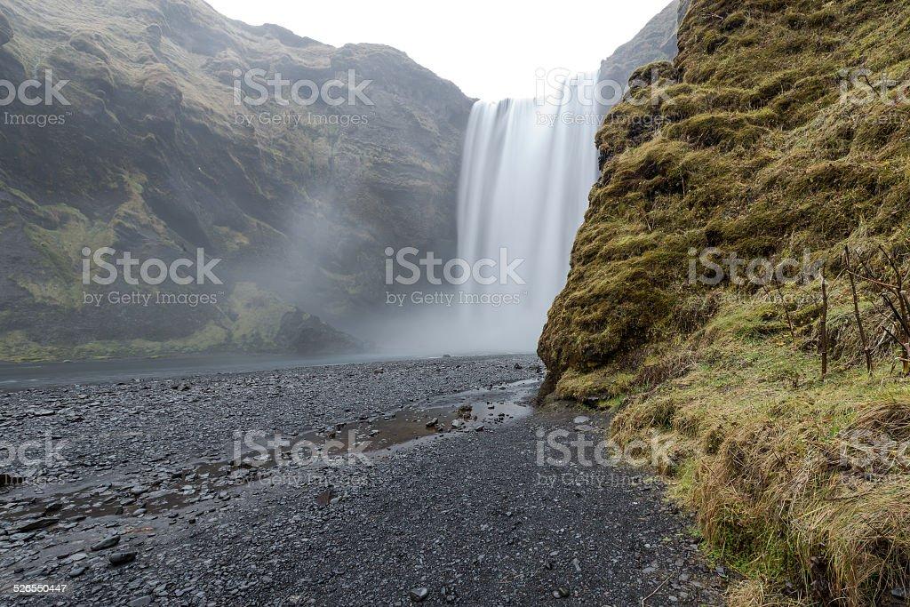 Skogafoss, Waterfall in Iceland stock photo