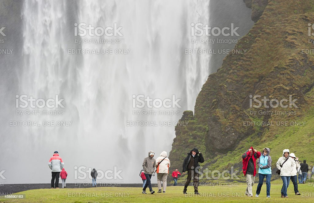 skogafoss waterfall stock photo