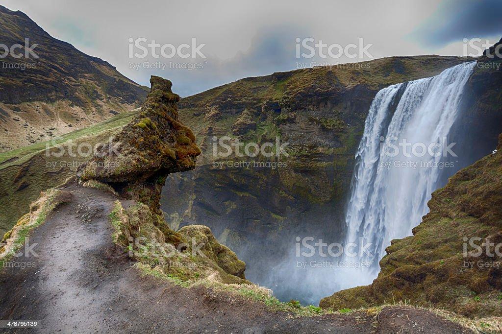 Skogafoss waterfall stock photo