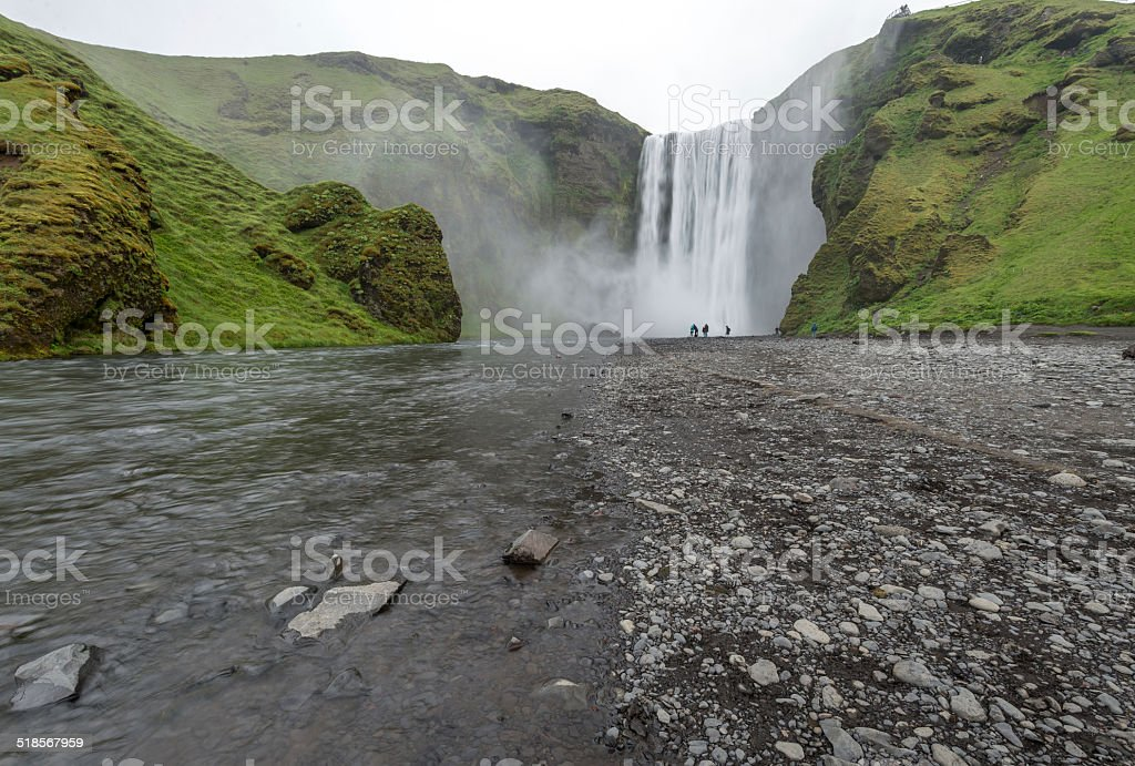 Skogafoss waterfall, South Iceland stock photo