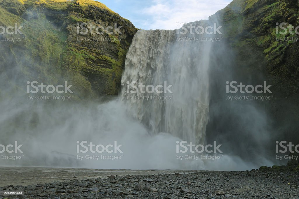 Skogarfoss waterfall, Iceland. stock photo