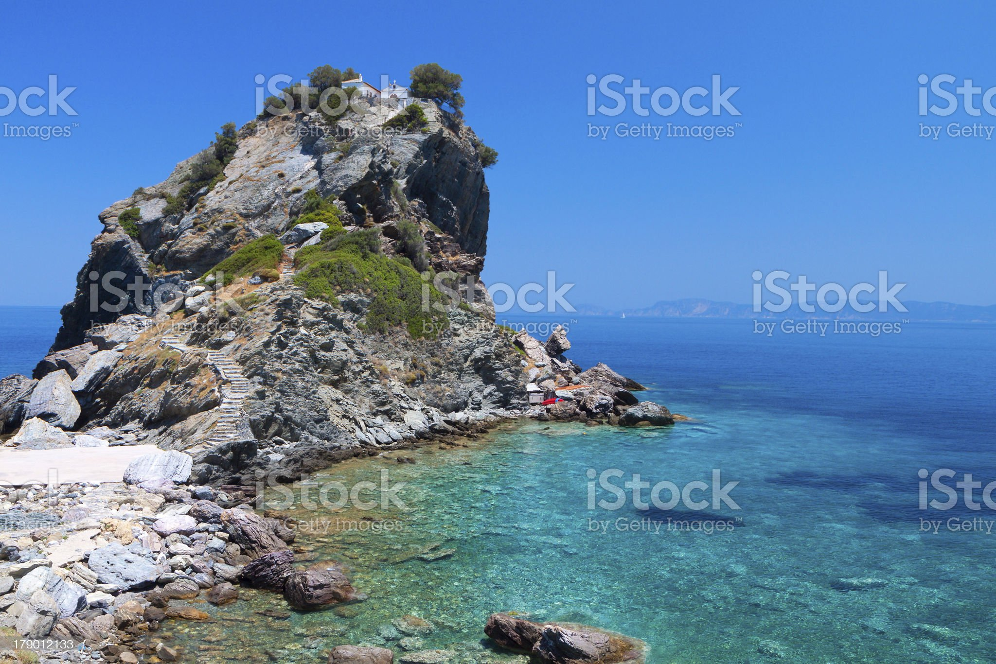 Skopelos island in Greece royalty-free stock photo