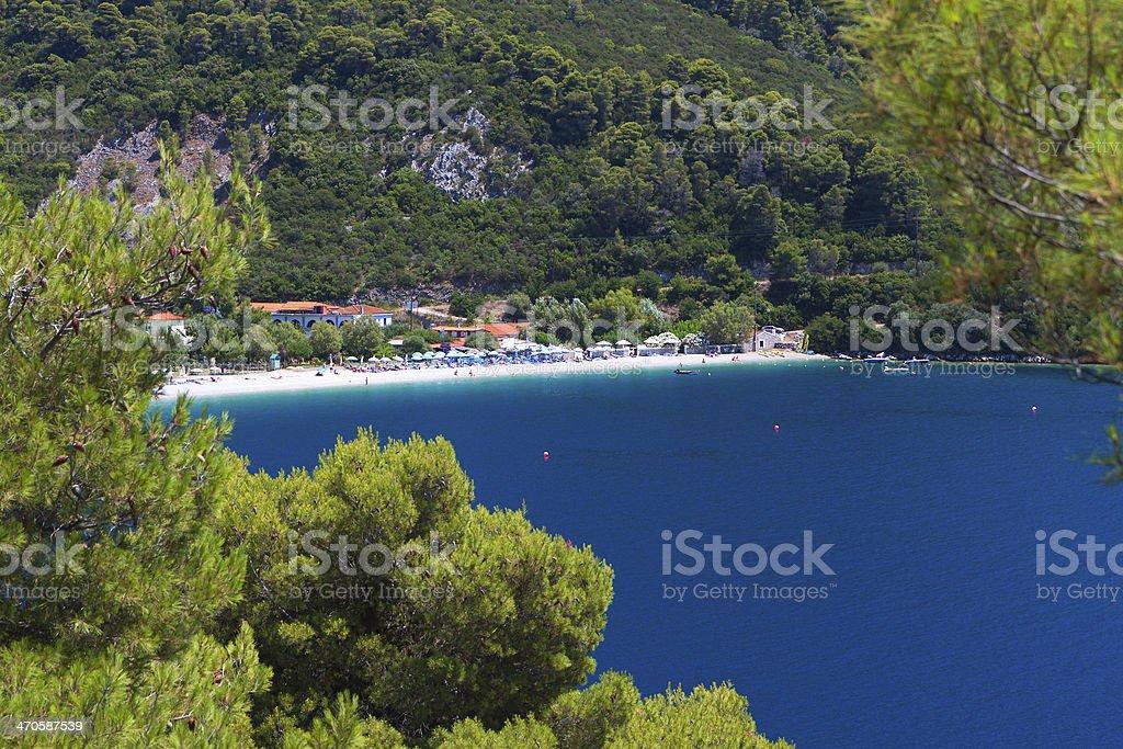 Skopelos island in Greece stock photo