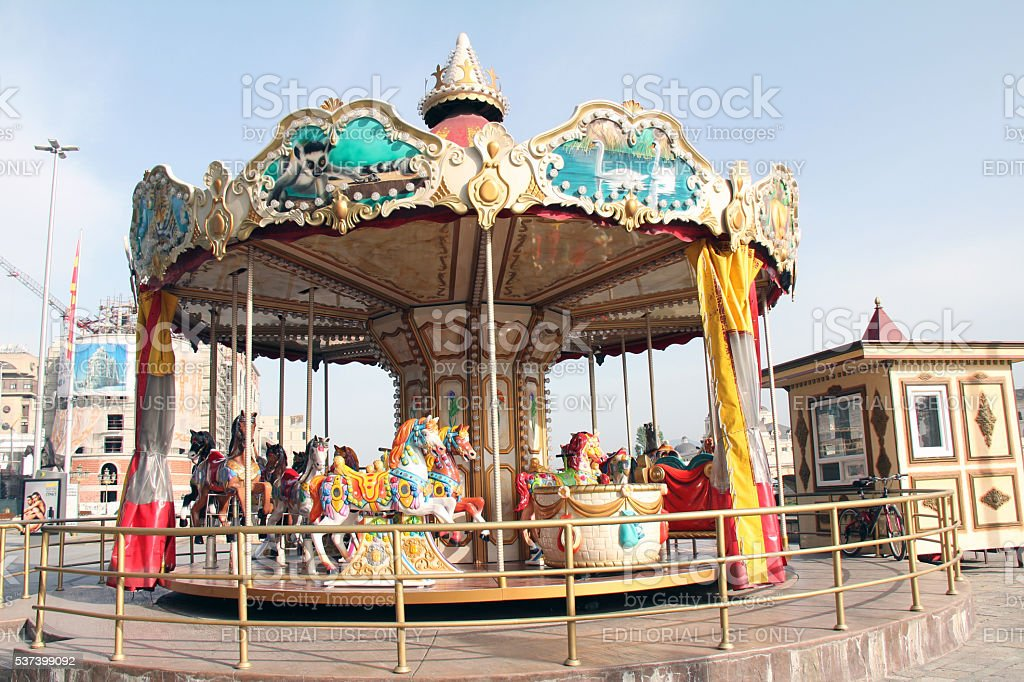 Skopje Carousel stock photo