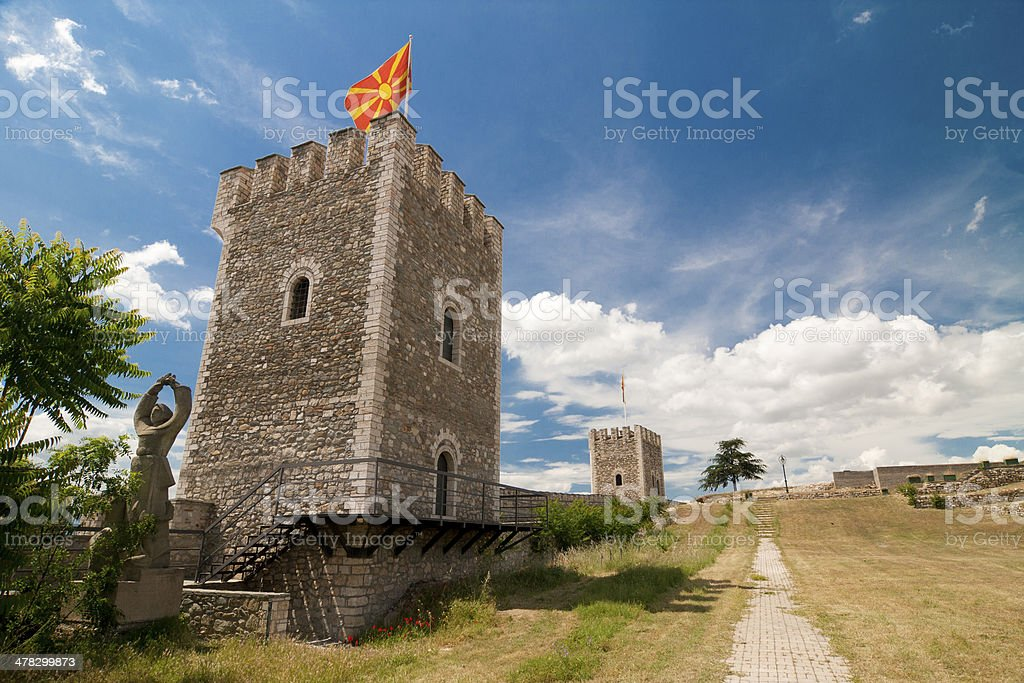 Skopje fort stock photo