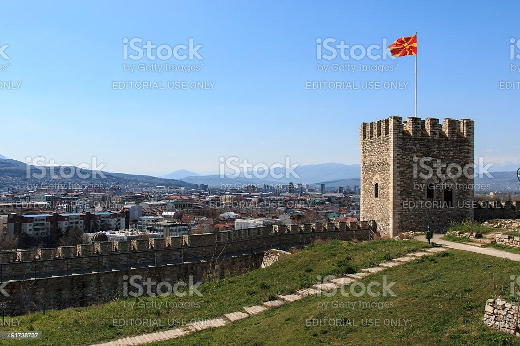 Skopje fortress, Castel, Fyrom stock photo