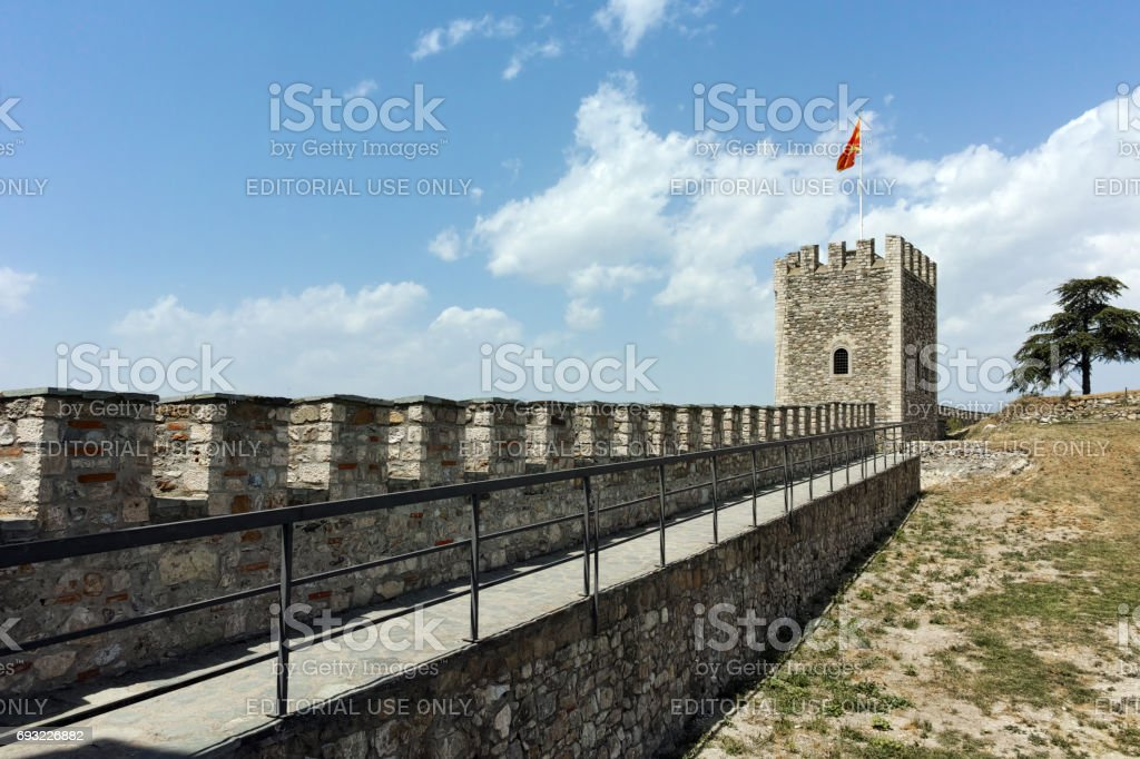 Skopje fortress (Kale fortress) in the Old Town, Republic of Macedonia stock photo
