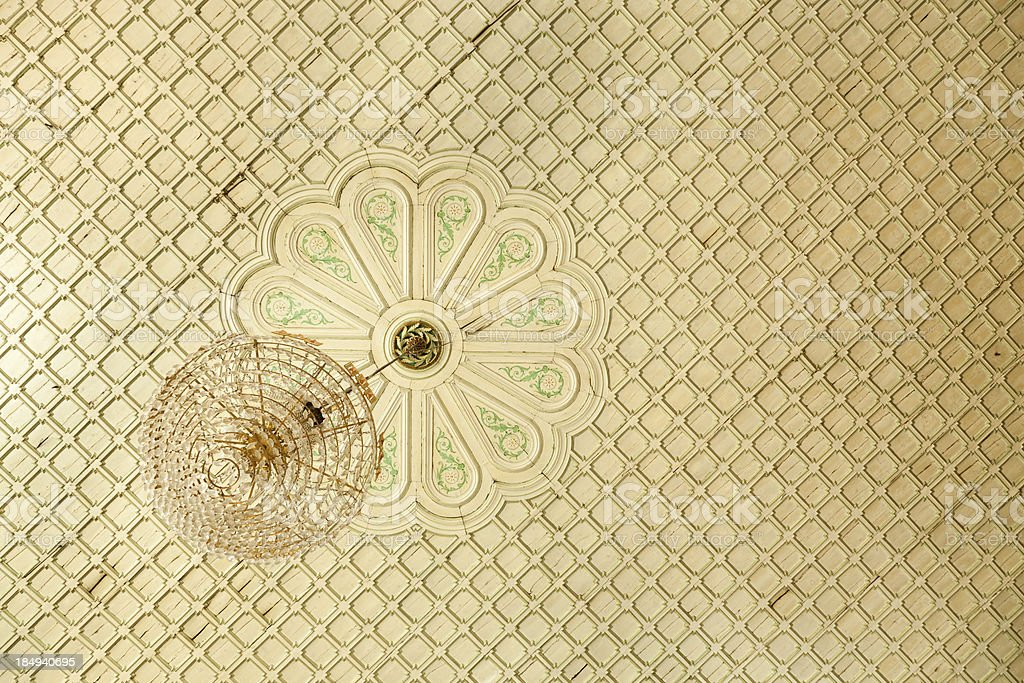 Skopje Sultan Murad Mosque Ceiling View stock photo