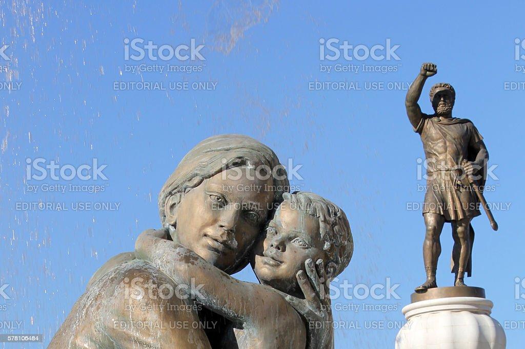 Skopje's Mother's Fountain stock photo