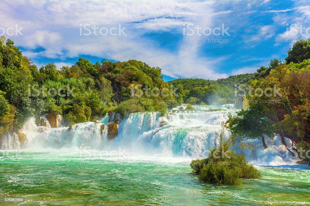 Skradinski buk waterfalls stock photo