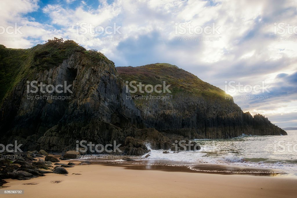 Skrinkle Haven Pembrokeshire South Wales stock photo