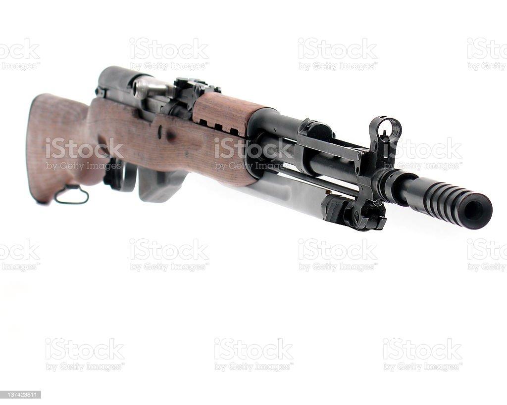 sks rifle on white stock photo