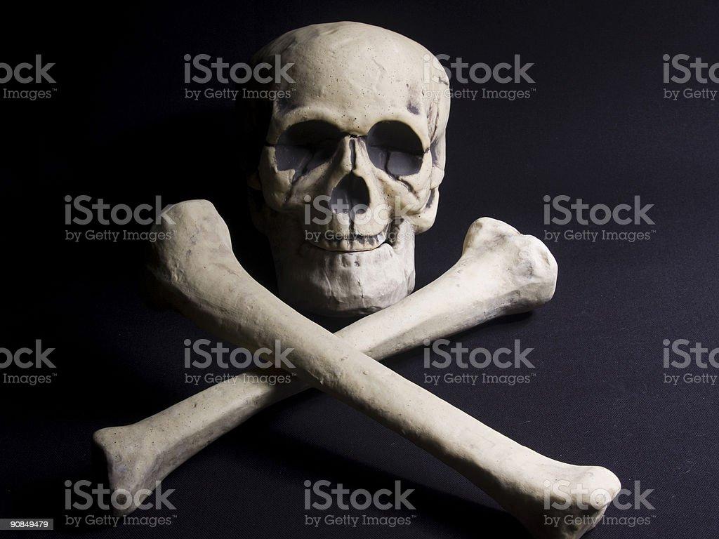 Skull and Cross Bones royalty-free stock photo