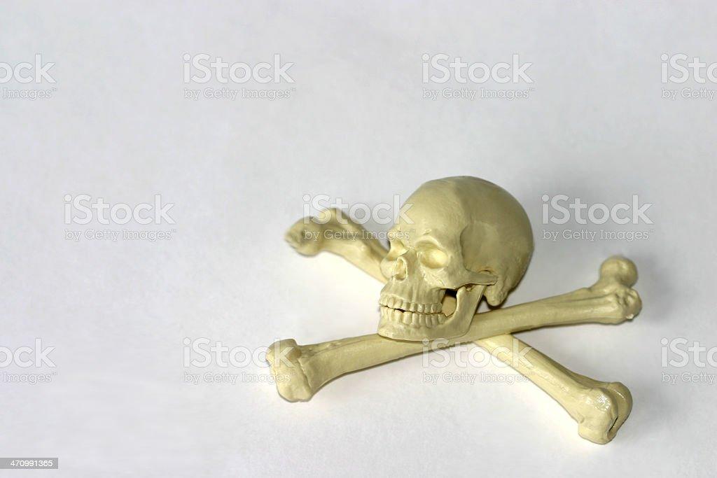 Skull and crossbones 1 royalty-free stock photo