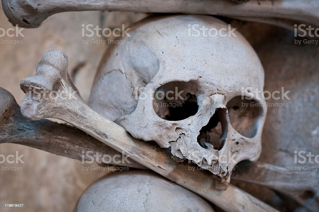 Skull and crossbones detail stock photo