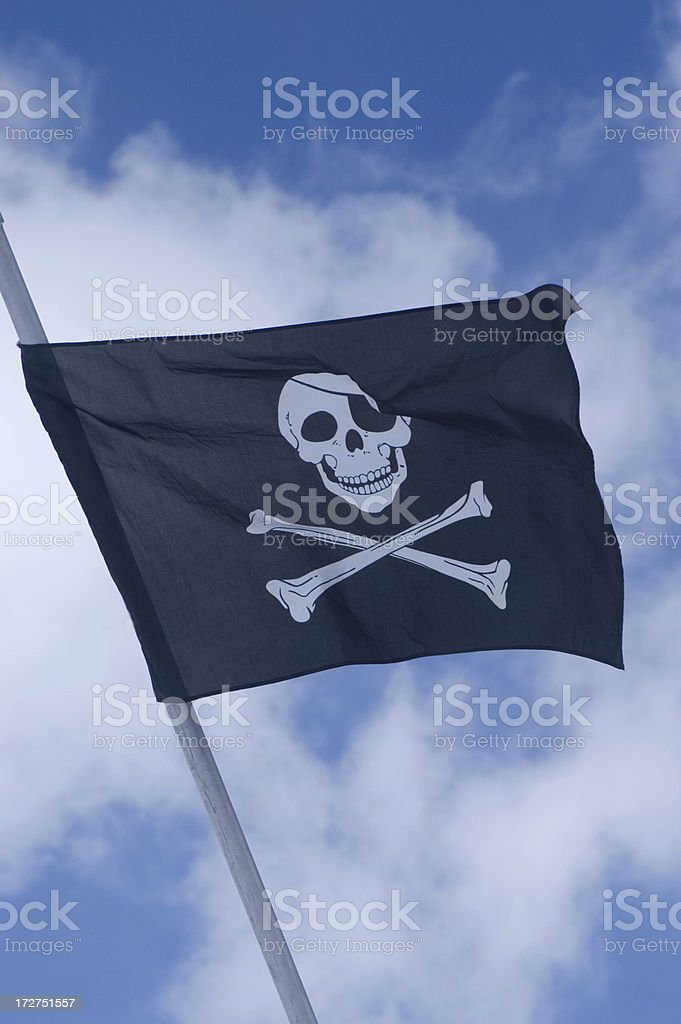 Skull and Crossbones Flag royalty-free stock photo