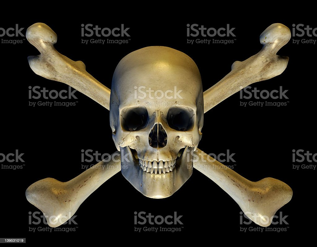 Skull and Crossbones - includes clipping path royalty-free stock photo