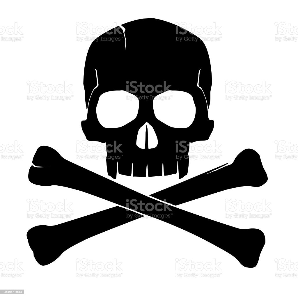 skull and crossbones stock photo