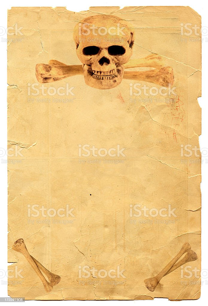Skull and Crossbones Poster royalty-free stock photo