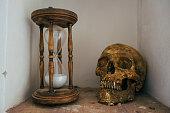Skull and hourglass