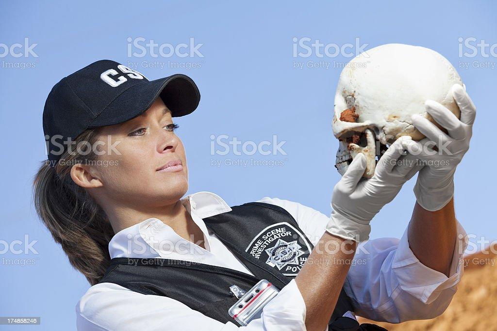 skull at scene royalty-free stock photo