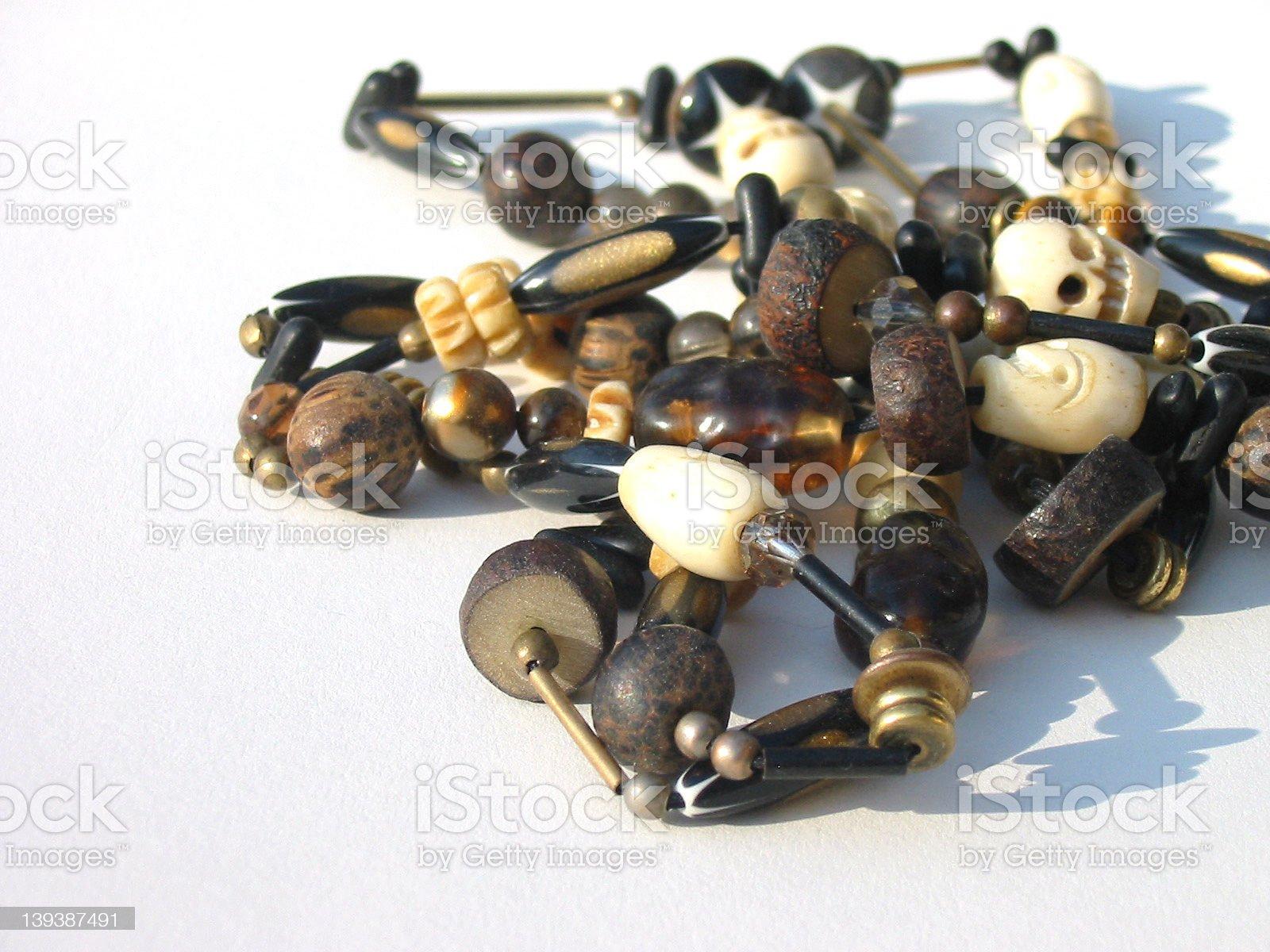 Skull Beads royalty-free stock photo