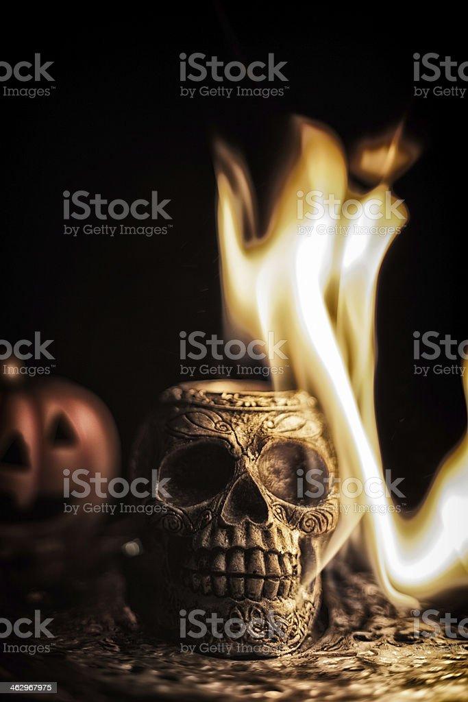 Skull Burning royalty-free stock photo