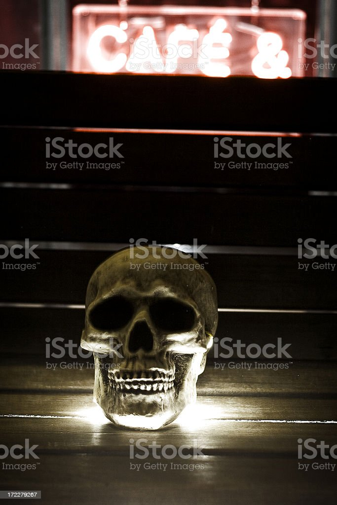 Skull & Cafe stock photo