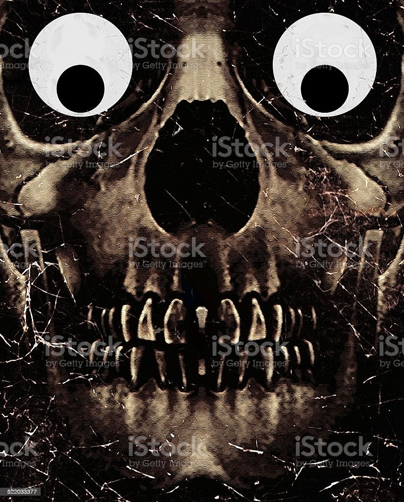 Skull Funny Expression stock photo