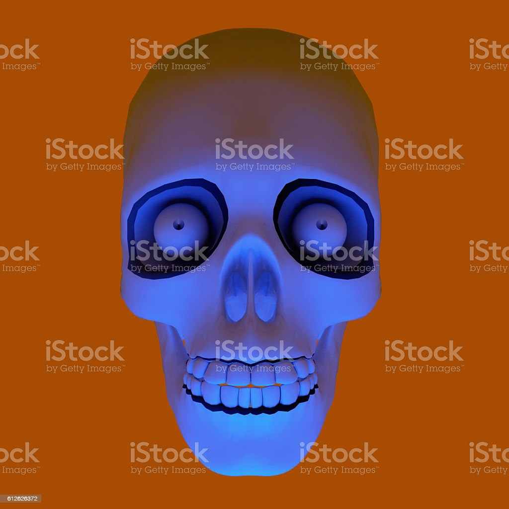 Skull Halloween. stock photo