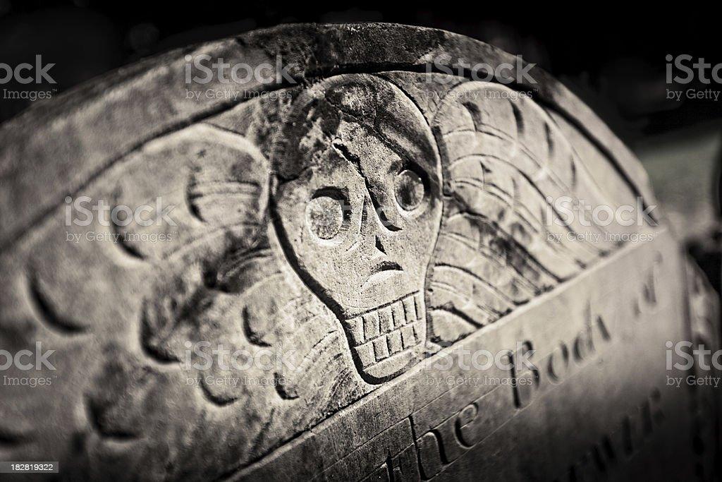 Skull headstone royalty-free stock photo