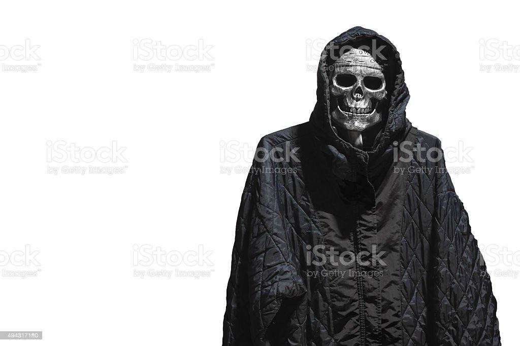 skull in halloween isolate stock photo