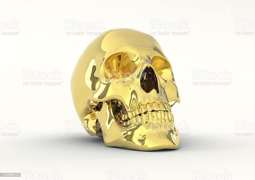 skull of gold stock photo