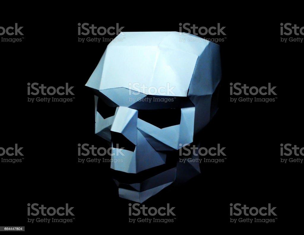 Skull Paper Craft stock photo