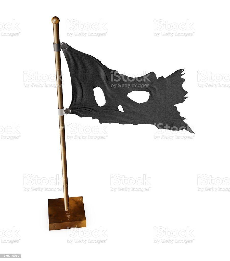 Skull Pirate Flag. 3D illustration stock photo
