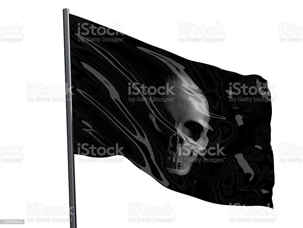 Skull Pirate Flag stock photo