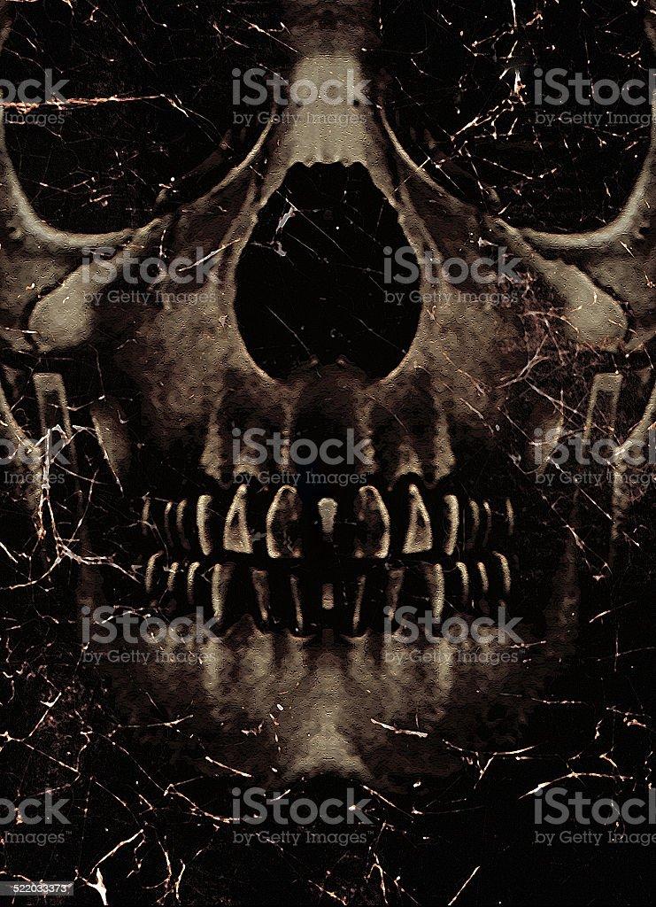 Skull Poster Background stock photo
