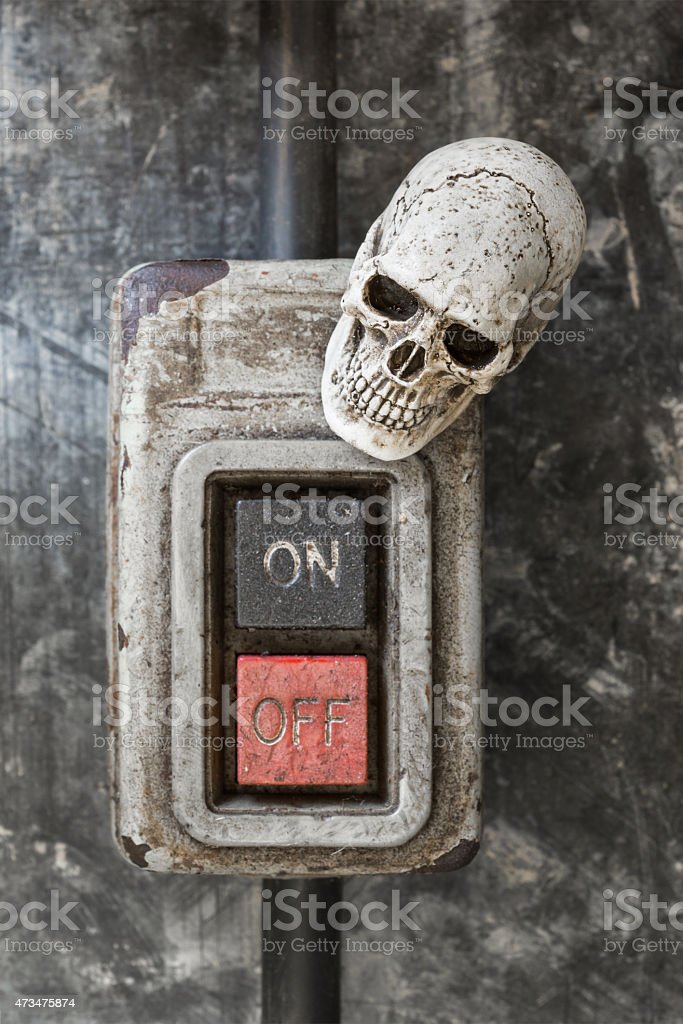 skull with old swith stock photo