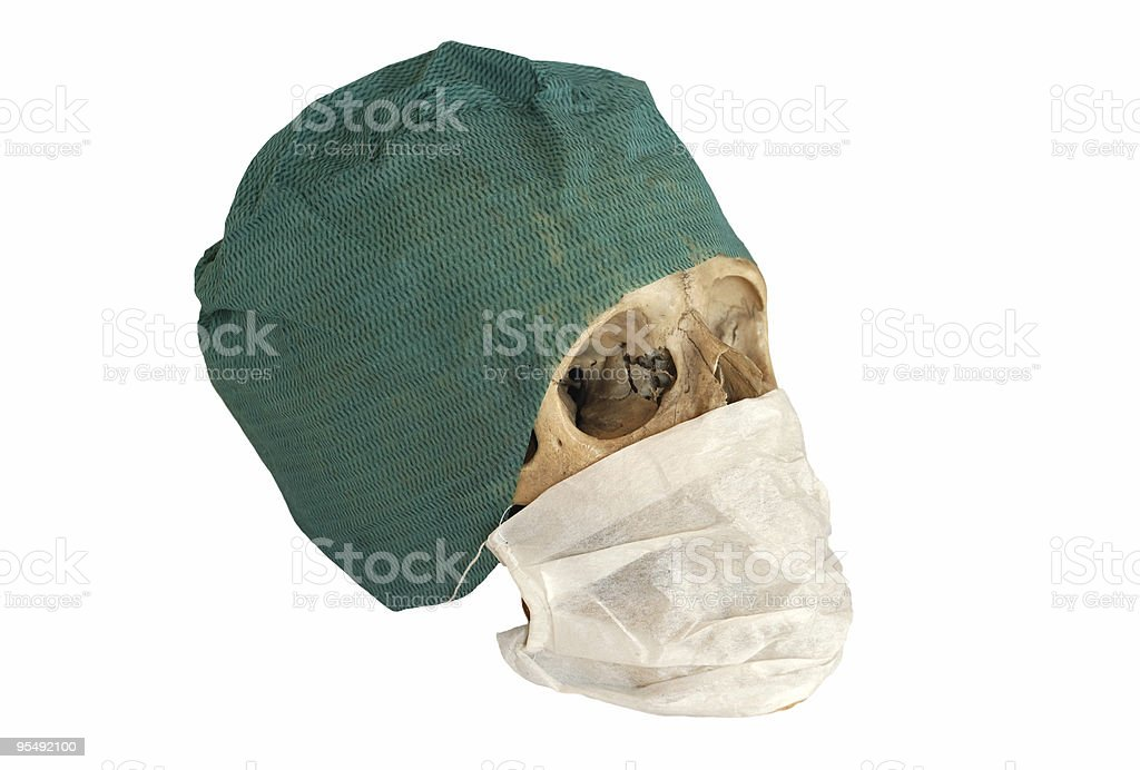 skull with Surgical Cap royalty-free stock photo