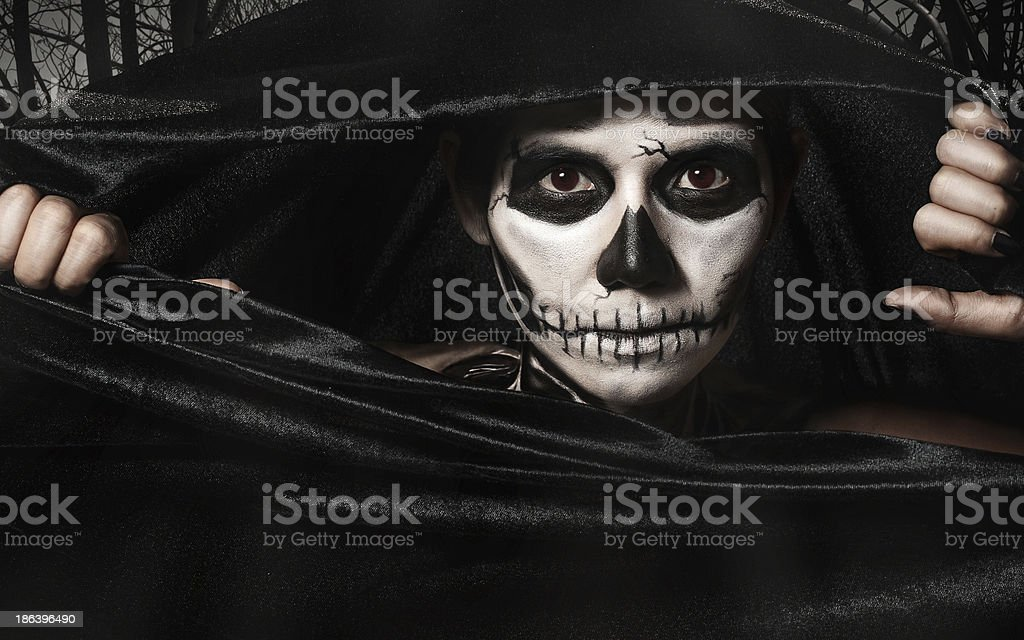 Skull women stock photo
