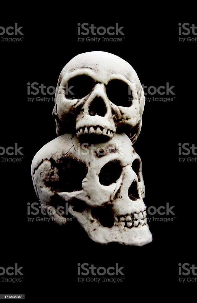 Skulls royalty-free stock photo