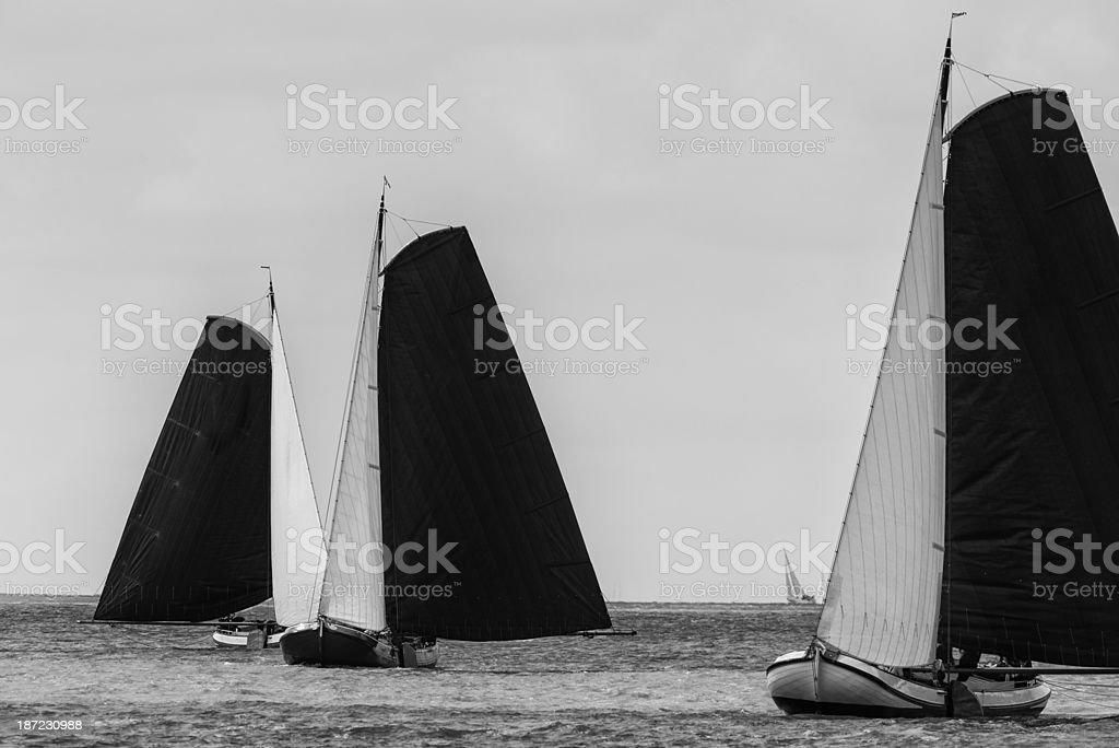 Skutsje sailboat stock photo